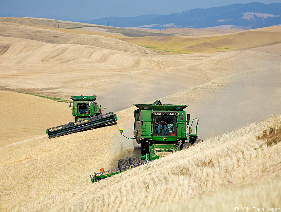 John Deere harvesters - Union Center, WA - 08-27-11